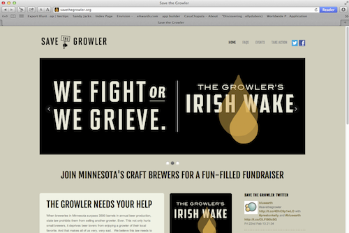 Save The Growler Website